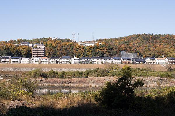 犬山から見る各務原の家並み