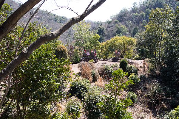 犬山寂光院境内の石仏