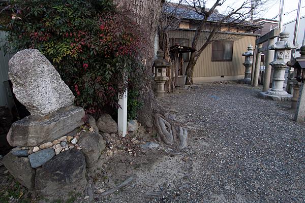 山木秋葉神社境内の風景