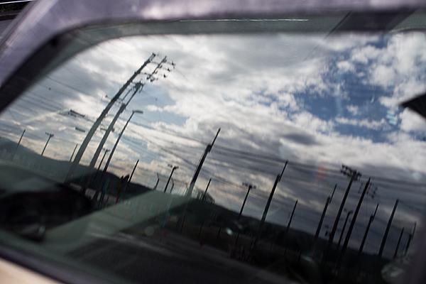 窓に映る風景