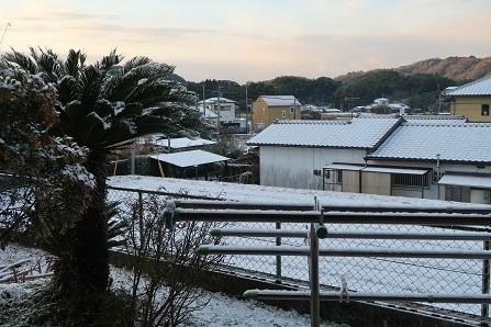 雪景色の大牟田2