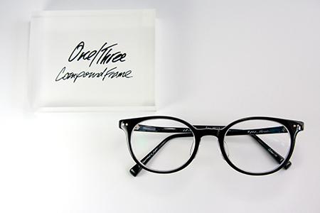 One/Three Compound Frame ワンスリー 黒ぶちめがね 可愛いめがね 新潟 長岡 おすすめのめがね店