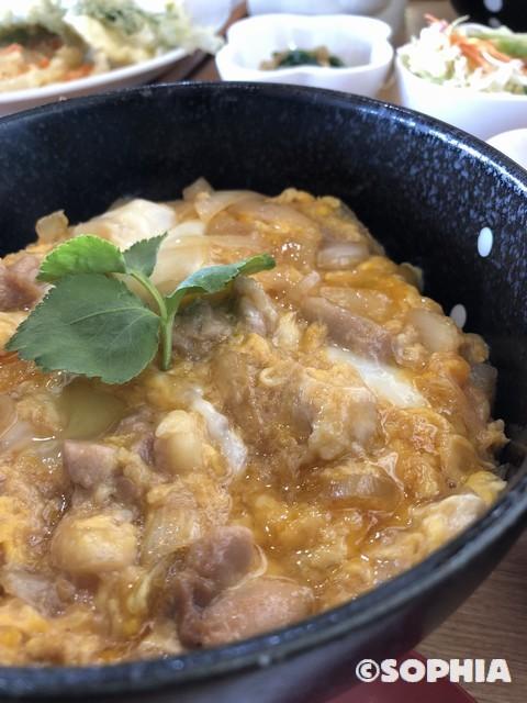 虎千代鶏の親子丼定食