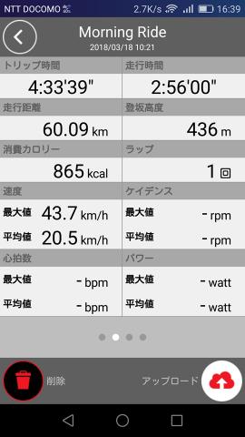 2018/03/19走行タイム