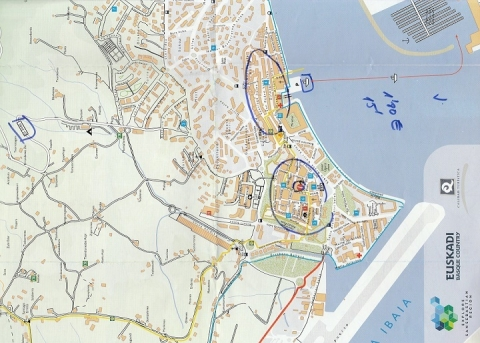 mapa de Hondarribia informacion 02