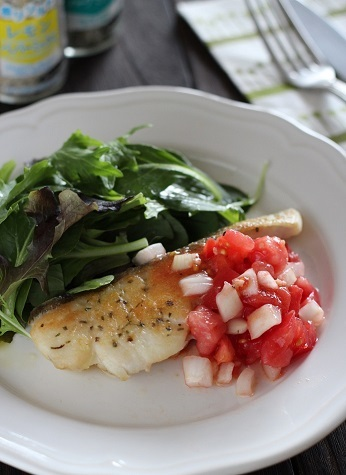 香りソルト鱈のソテー