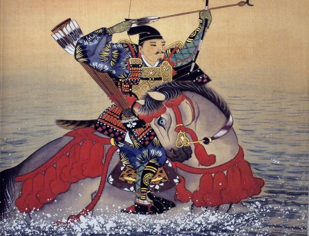 平安時代の武士、那須与一を描いた画/鳥取市の渡辺美術館所蔵。
