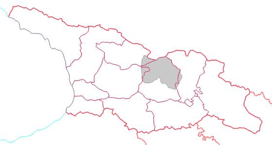 南オセチアの位置