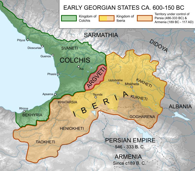 コルキス王国とイベリア王国(600-150BC)