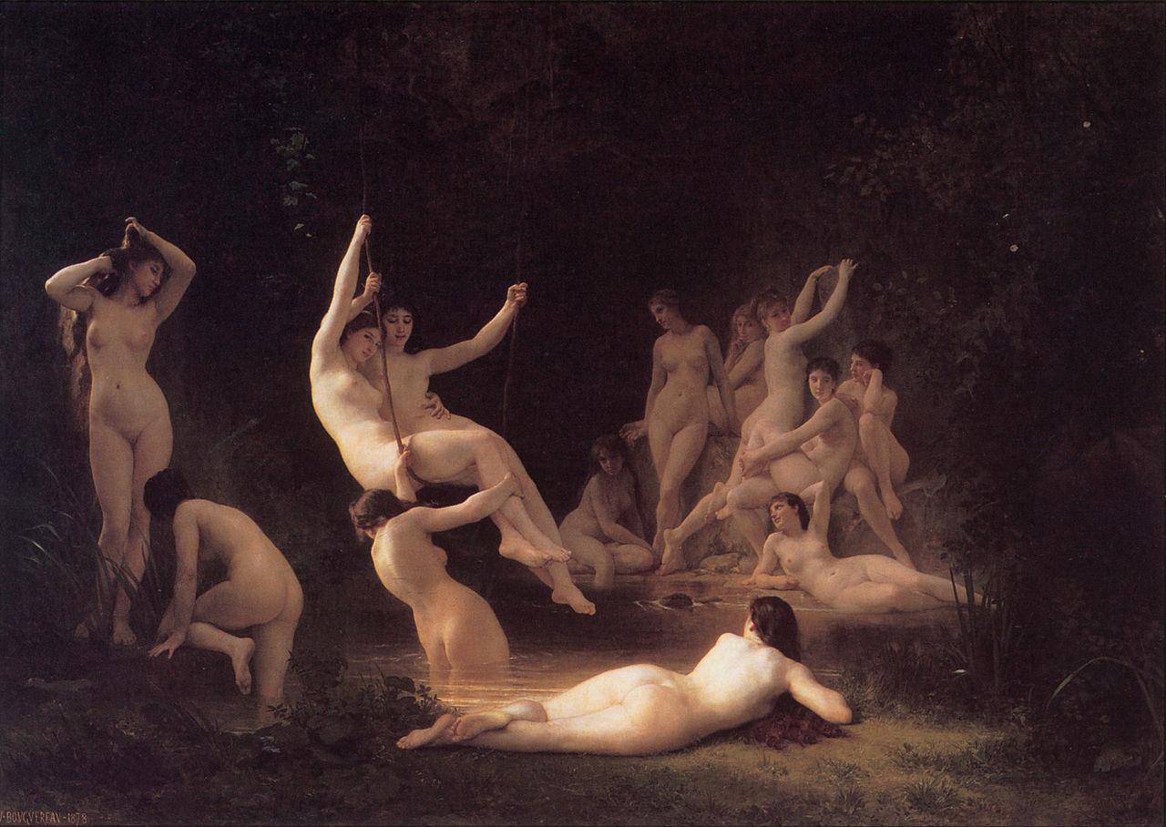 『ニンフたち』ウィリアム・アドルフ・ブグロー(1878年)