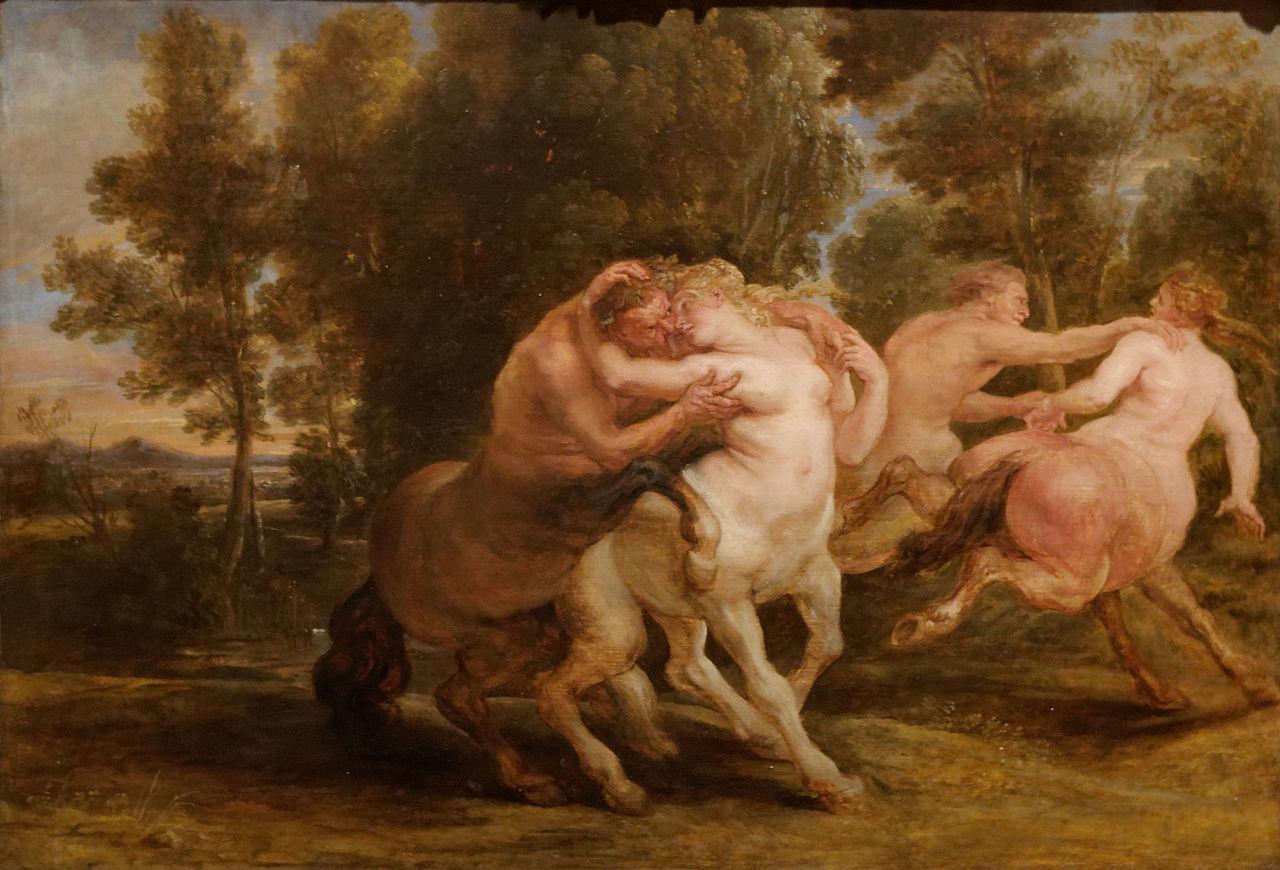 『ケンタウロスの愛』ピーテル・パウル・ルーベンス(1635)