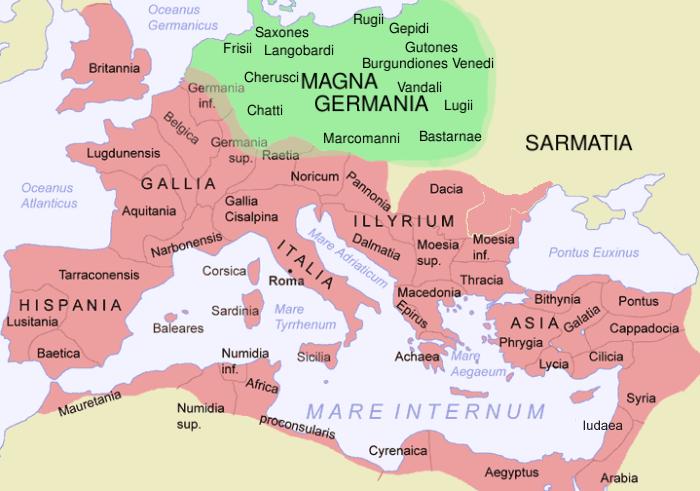 2世紀初頭のローマ帝国。