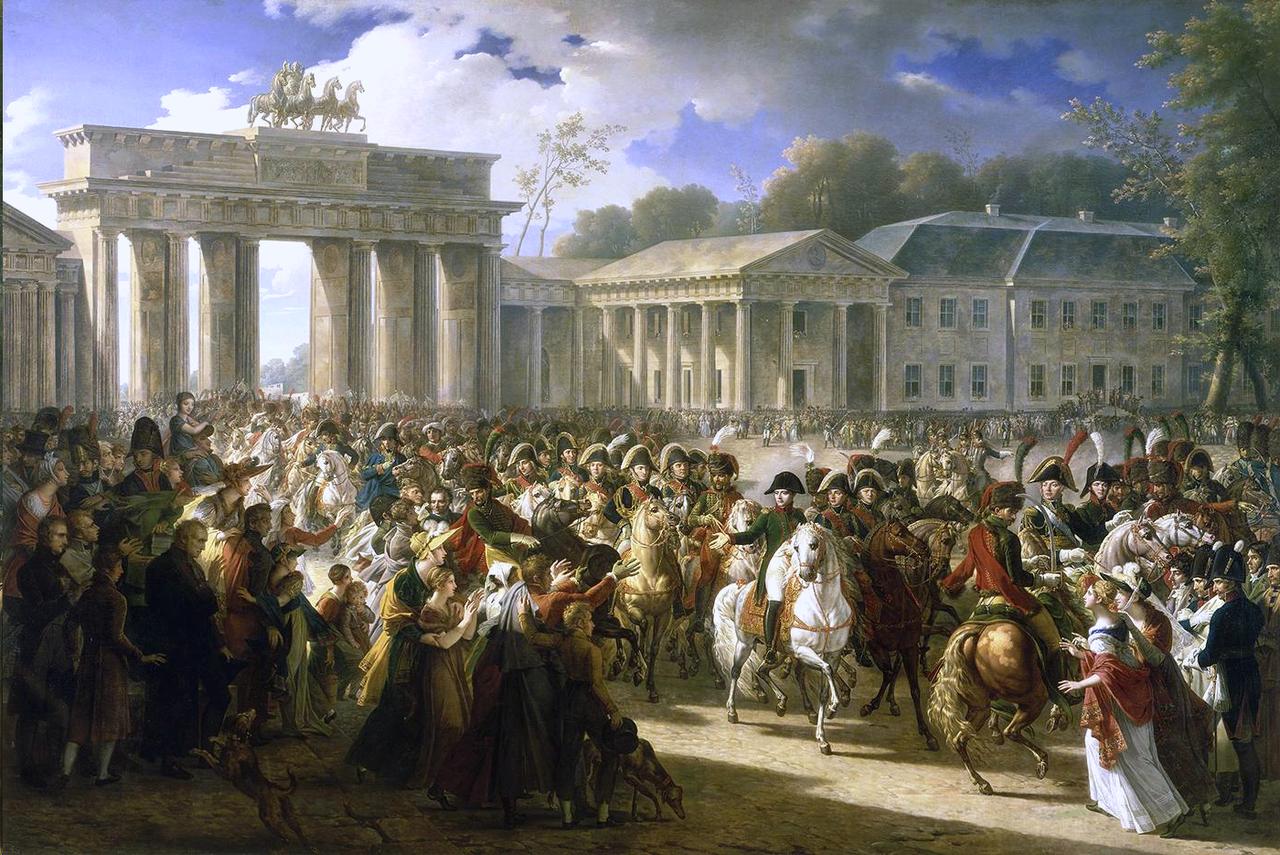 『ナポレオンのベルリン入城』シャルル・メニエ