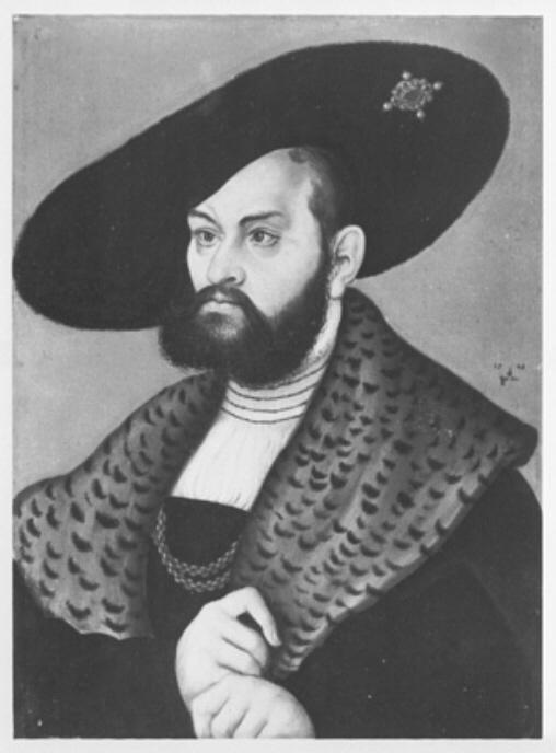 『プロイセン公アルブレヒト』ルーカス・クラナッハ(1533年)
