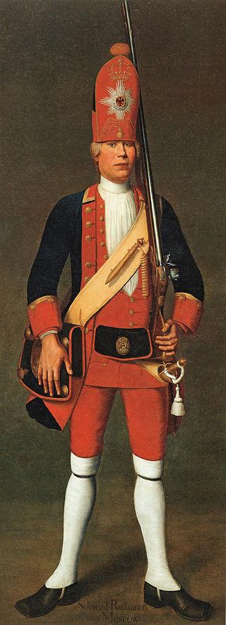 ドイツ歴史博物館に所蔵されている巨人連隊兵士の肖像