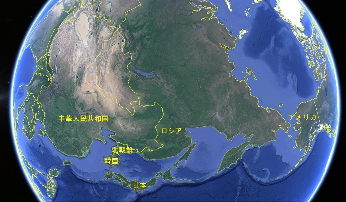 北朝鮮 俯瞰