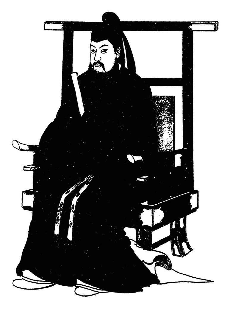 天智天皇 『古今偉傑全身肖像』(1899年ごろ)