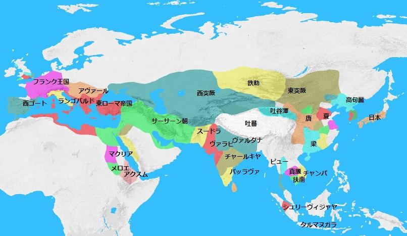 620年頃の世界地図