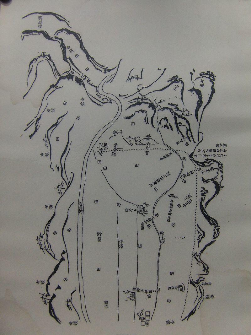 陸奥国骨寺村絵図
