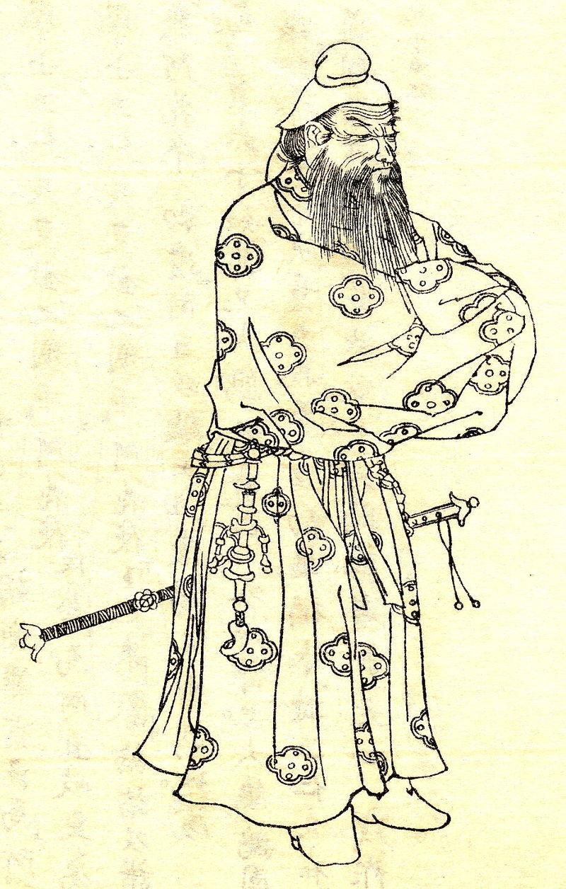 武内宿禰(菊池容斎『前賢故実』、明治時代)