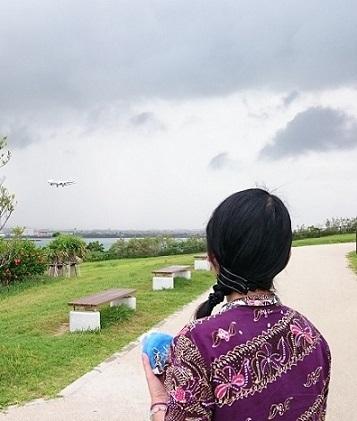 飛行機見る