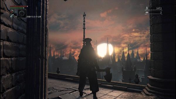 PS4 PSプラス フリープレイタイトル Bloodbone ブラッドボーン プレイ日記 古狩人のデュラ 旧市街 血に渇いた獣