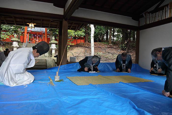 中山八幡神社 おんだ祭2