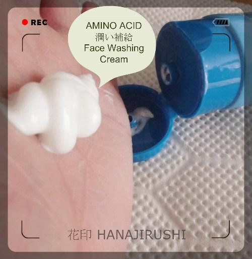 HANAJIRUSHI AMINO ACID Face Washing Cream 201802002