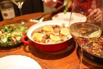 メバルのアクアパッツァとリンゴのサラダ献立2