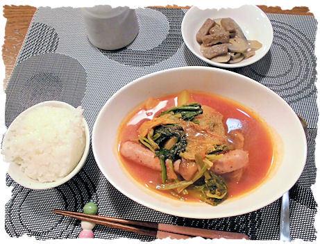 トマトスープ鍋定食