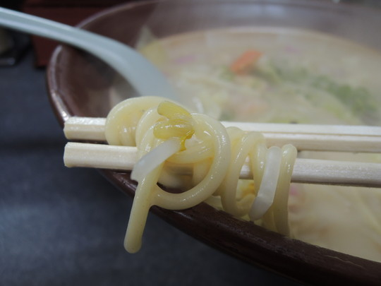 長崎チャンポンの麺