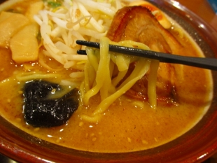 一本気 味噌ラーメン 麺スープ