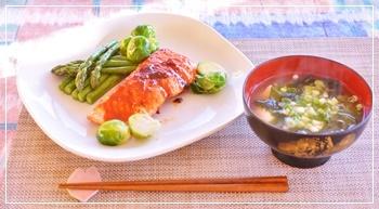 鮭のコチュジャン焼き