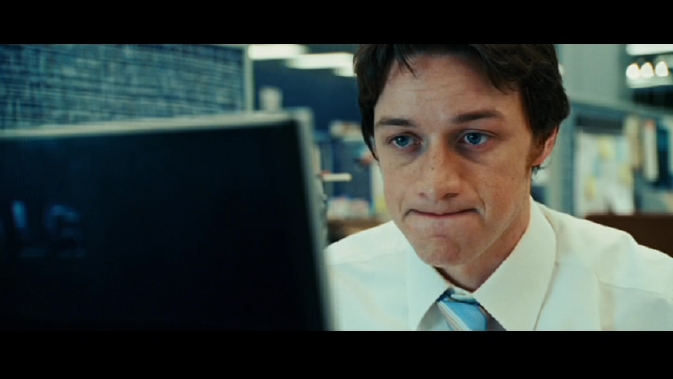 wanted-James McAvoy weird