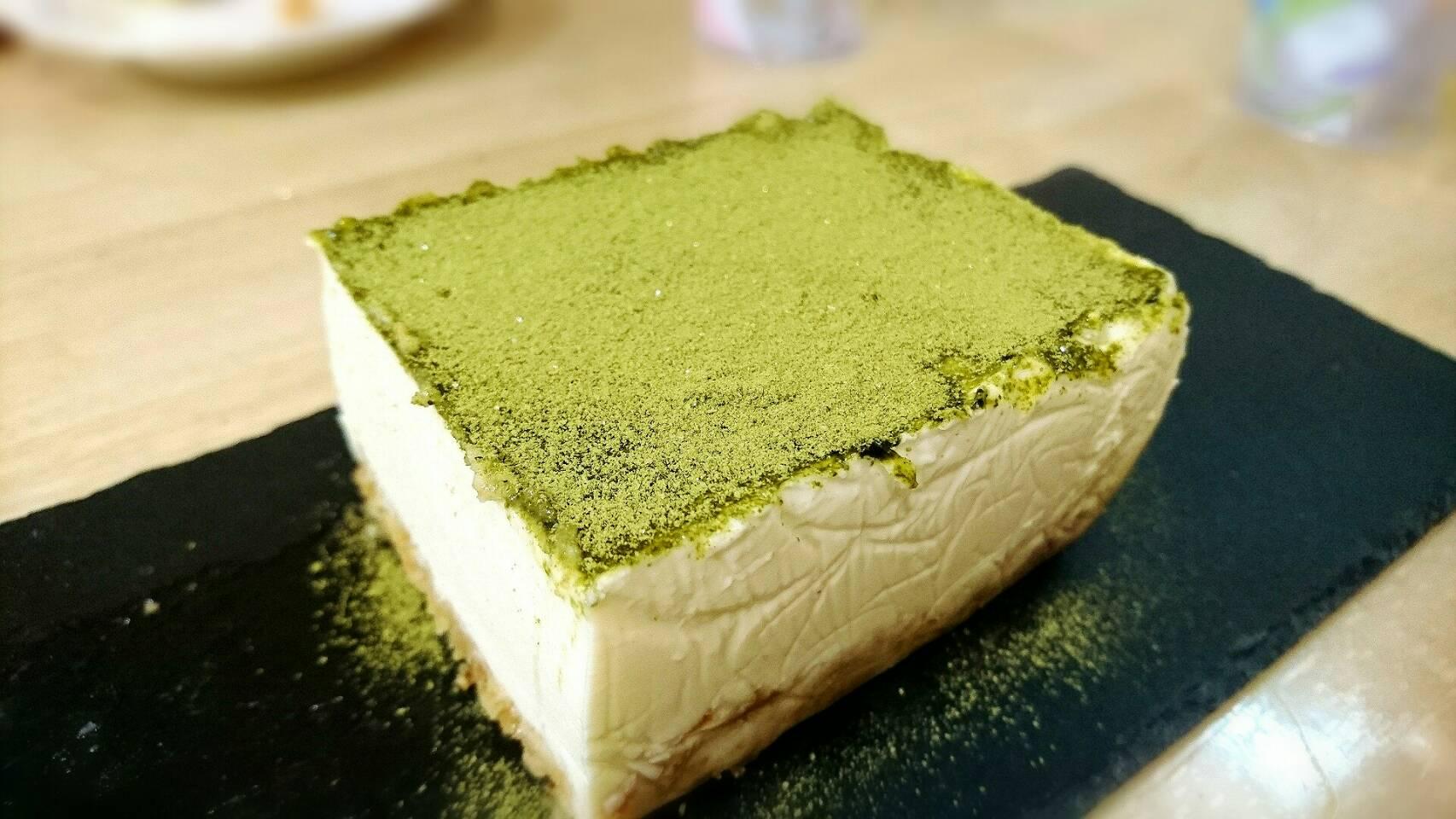 抹茶香る レアチーズケーキ