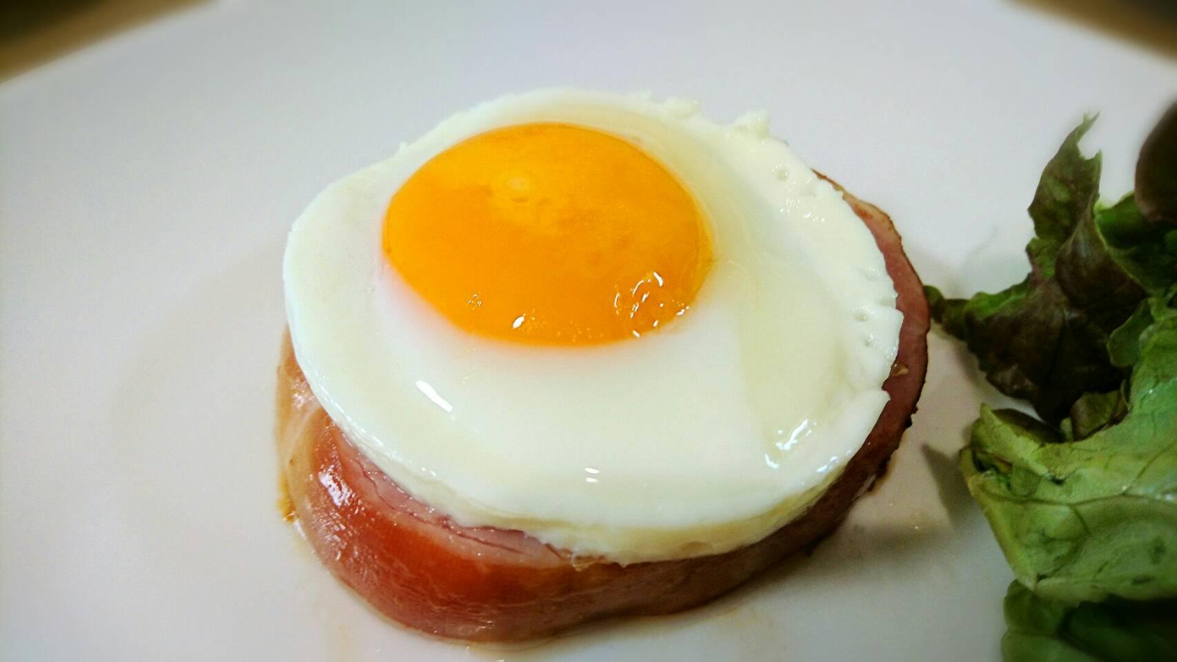美しい目玉焼きのつくり方 極厚ハムエッグ