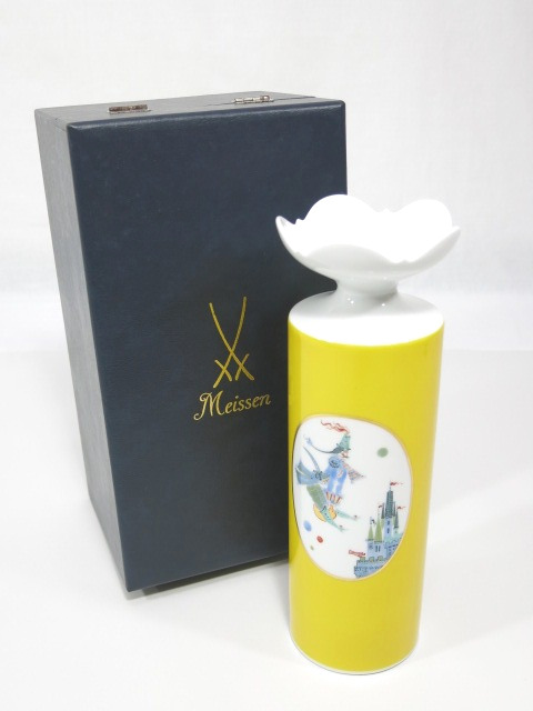 マイセン 「ほら吹き男爵」 ヴェルナーデザイン 花瓶