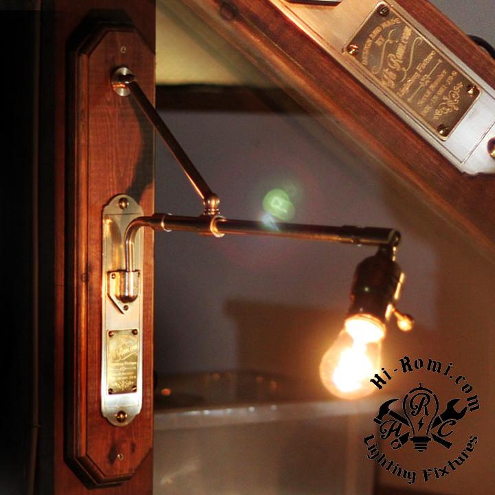 インダストリアルな真鍮製壁掛けライトの試作品。20180123