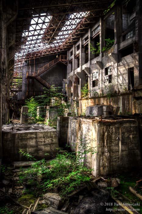 【田老鉱山】選鉱場内部 2階