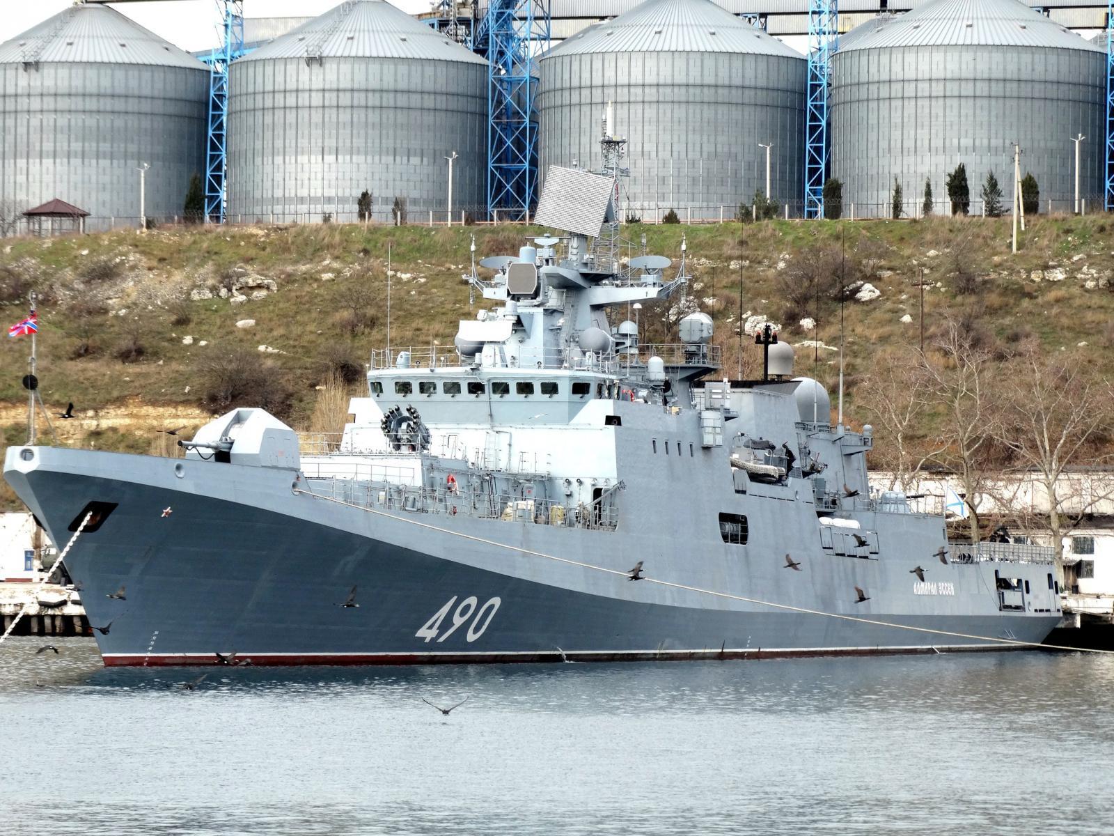 ロシア海軍黒海艦隊のフリゲート...