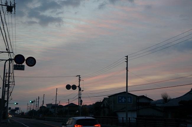 薄茜色の朝2