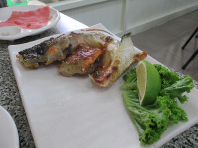 旗津で鮭鎌
