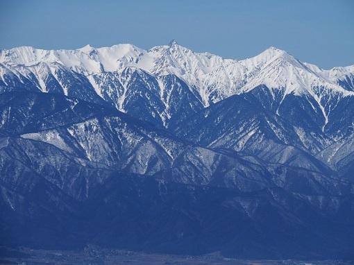 右:常念岳と左:槍ヶ岳
