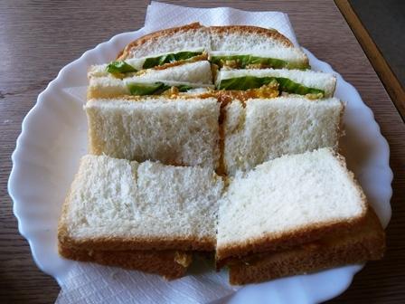 マナー:モーニングサービス;サンドイッチ1