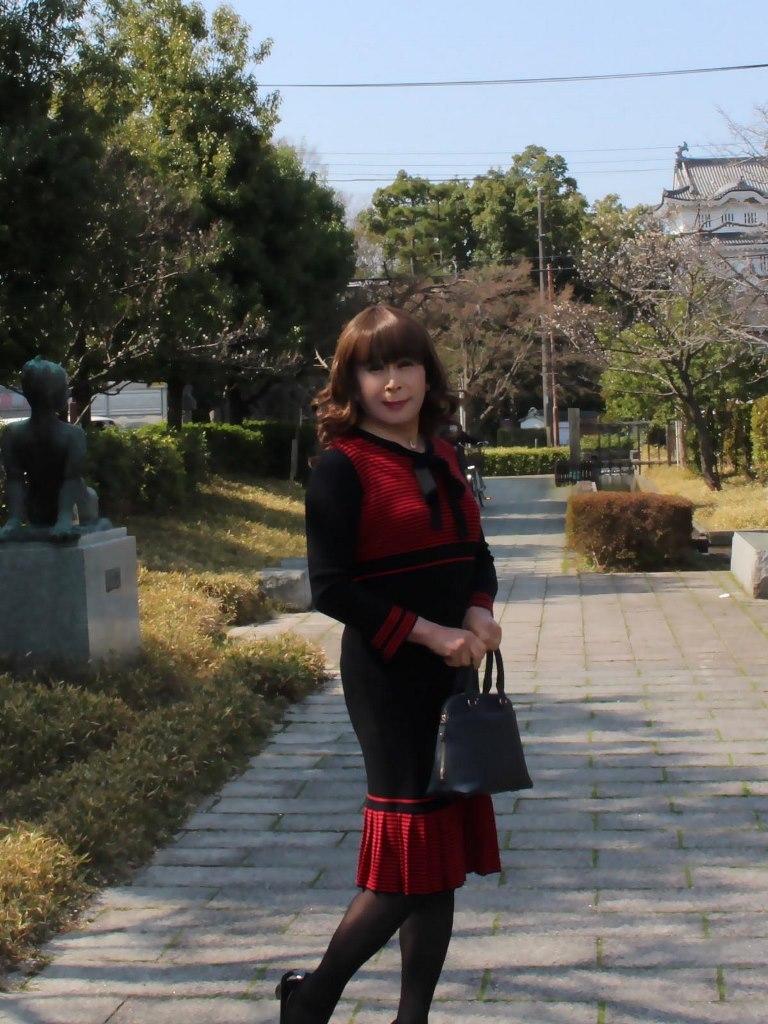 赤黒ニットワンピD(1)