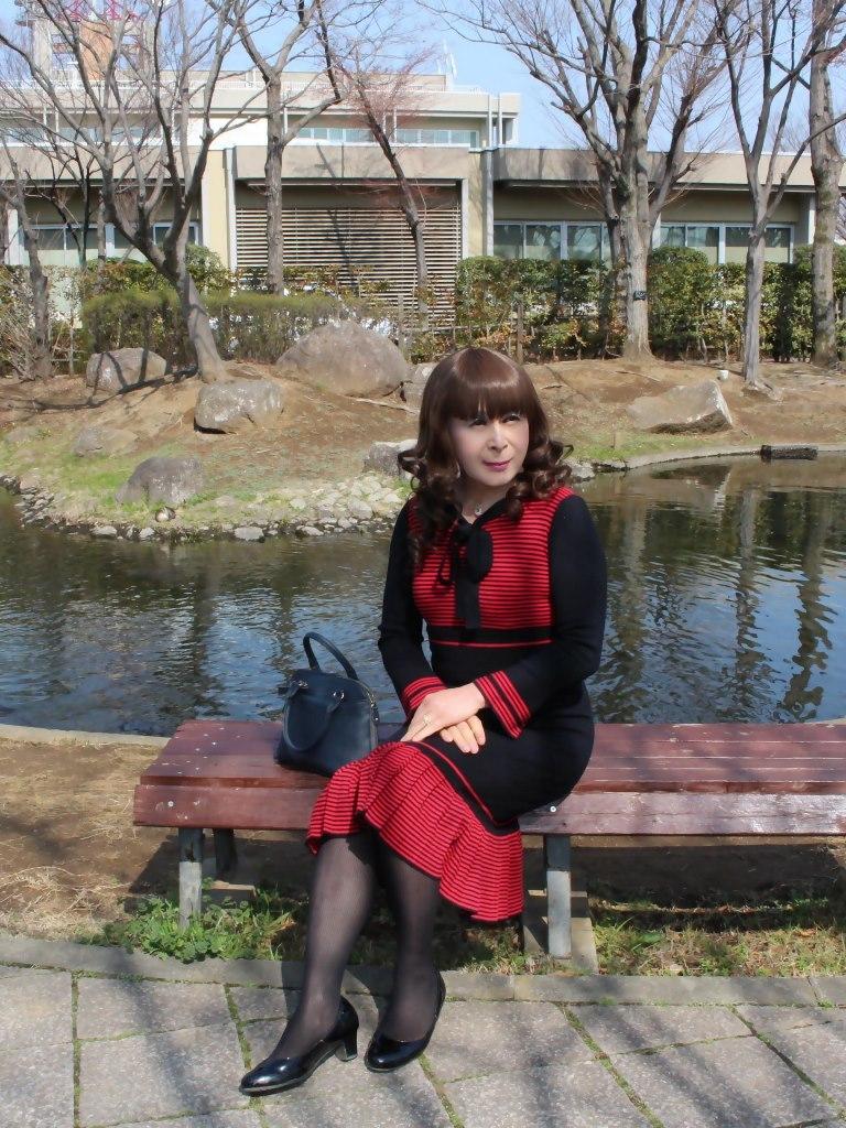赤黒ニットワンピD(2)