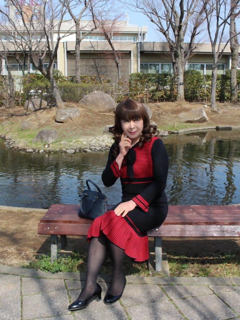 赤黒ニットワンピD(3)