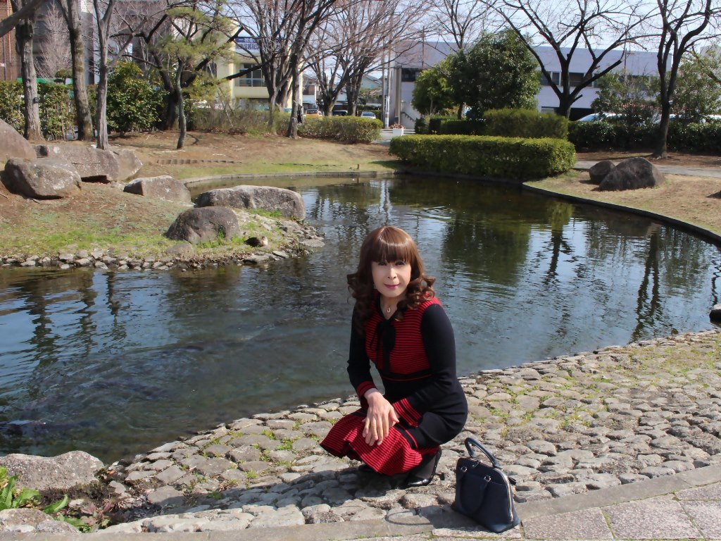 赤黒ニットワンピD(6)