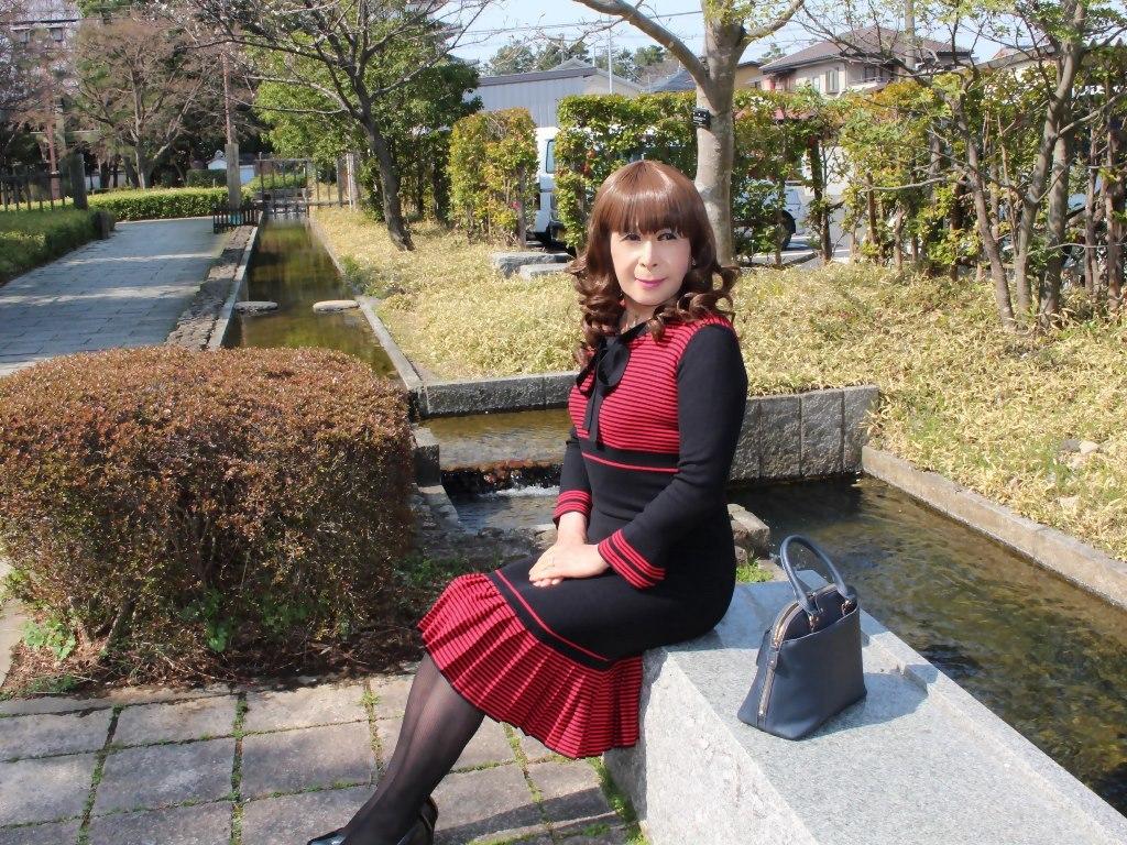 赤黒ニットワンピD(8)