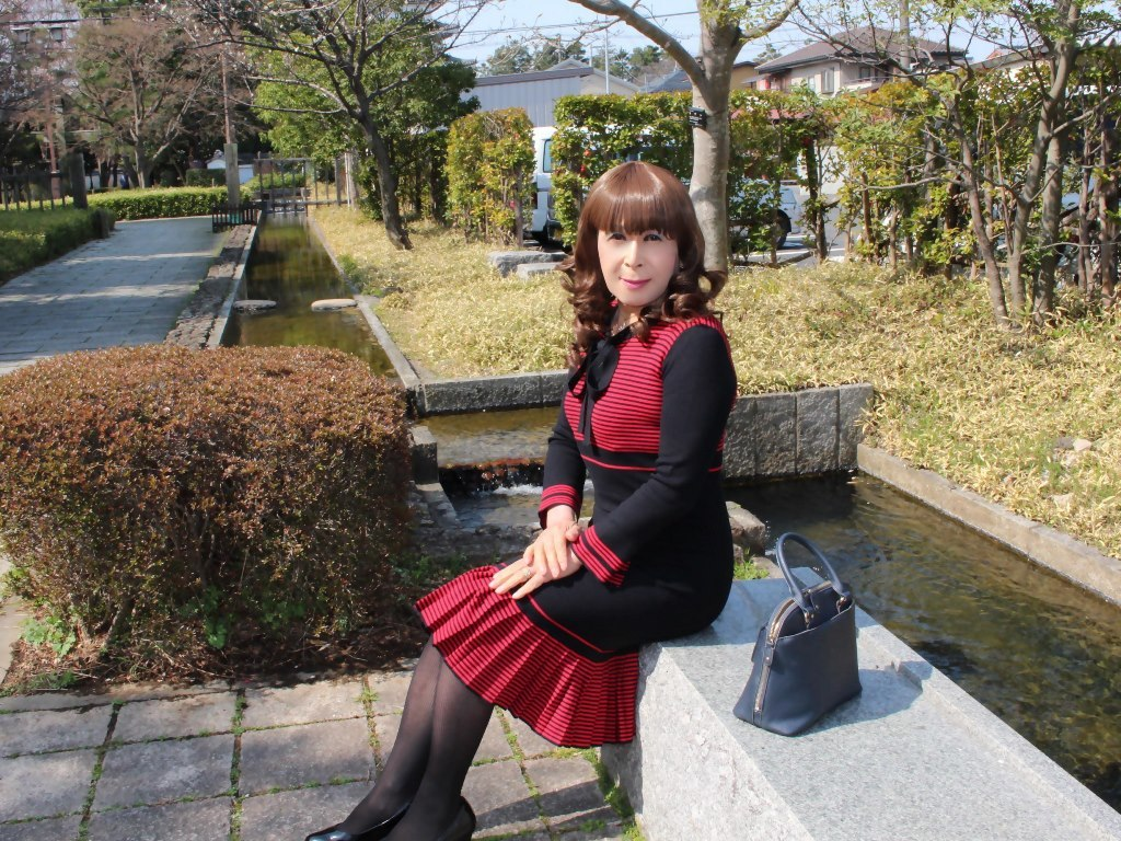 赤黒ニットワンピD(7)